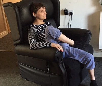 picture of a comfortable seating patient with complex needs