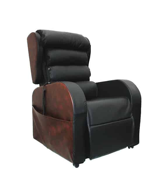 front view of black Denver leather chair